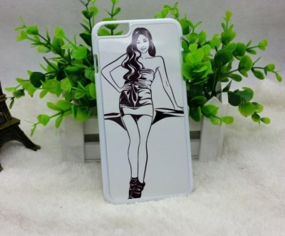 COVER PERSONALIZZABILE PER IPHONE 6PLUS COLORE BIANCA IN PLASTICA