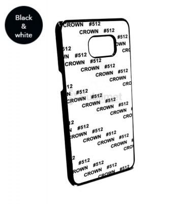 COVER PERSONALIZZABILE PER SAMSUNG GALAXY S6 EDGE PLUS COLORE NERA IN PLASTICA